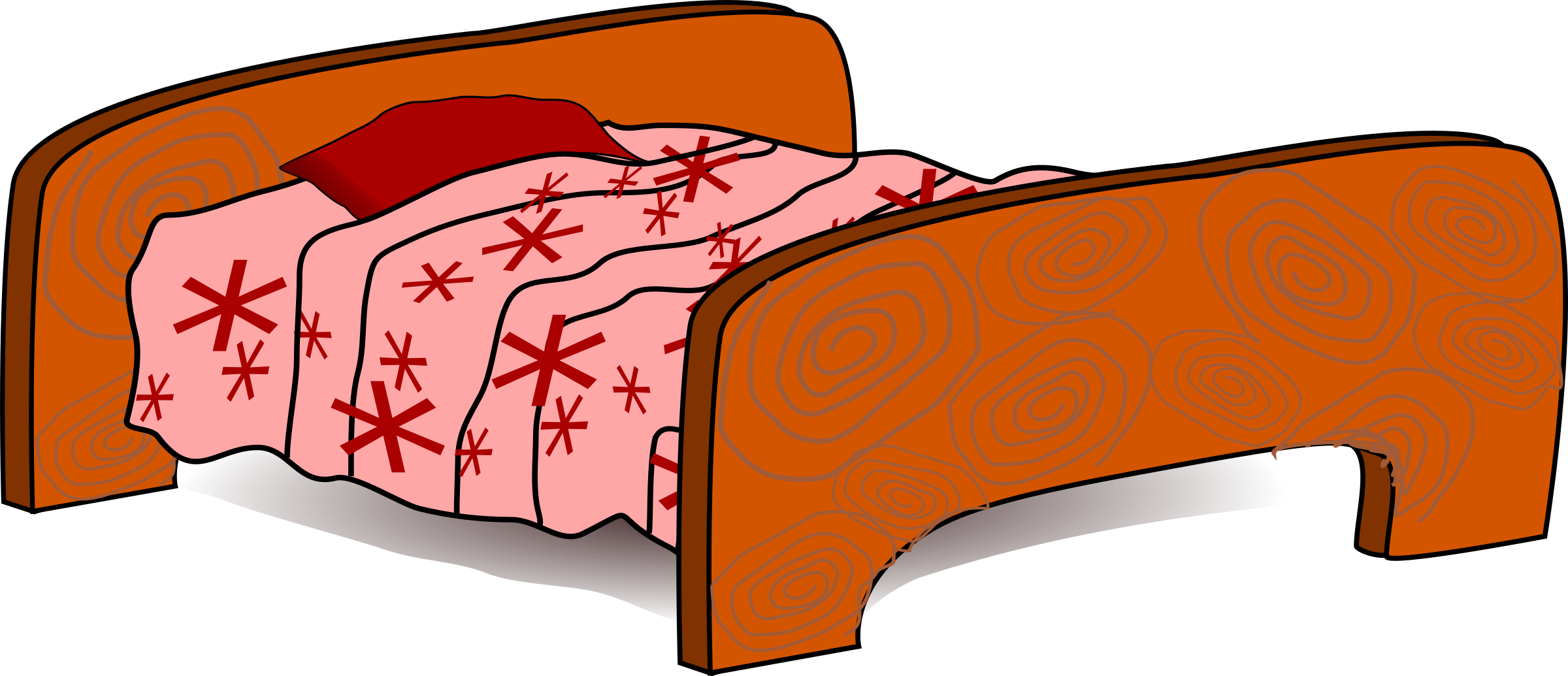 Clipart bed big bed. Image png