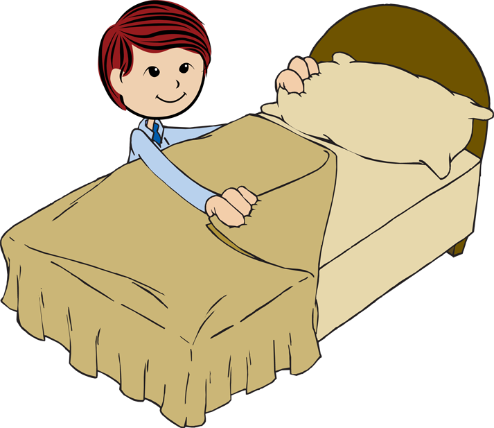 Clipart bed big bed. Make your day denny