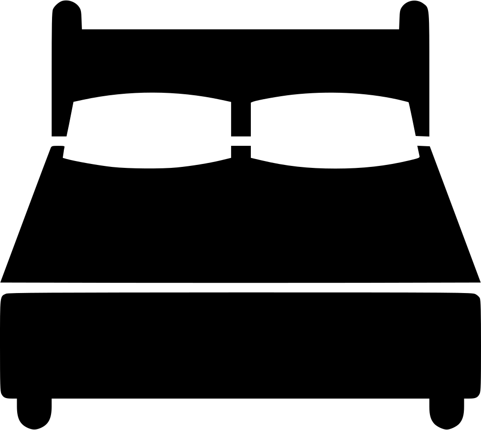 Clipart bed black and white. Double svg png icon