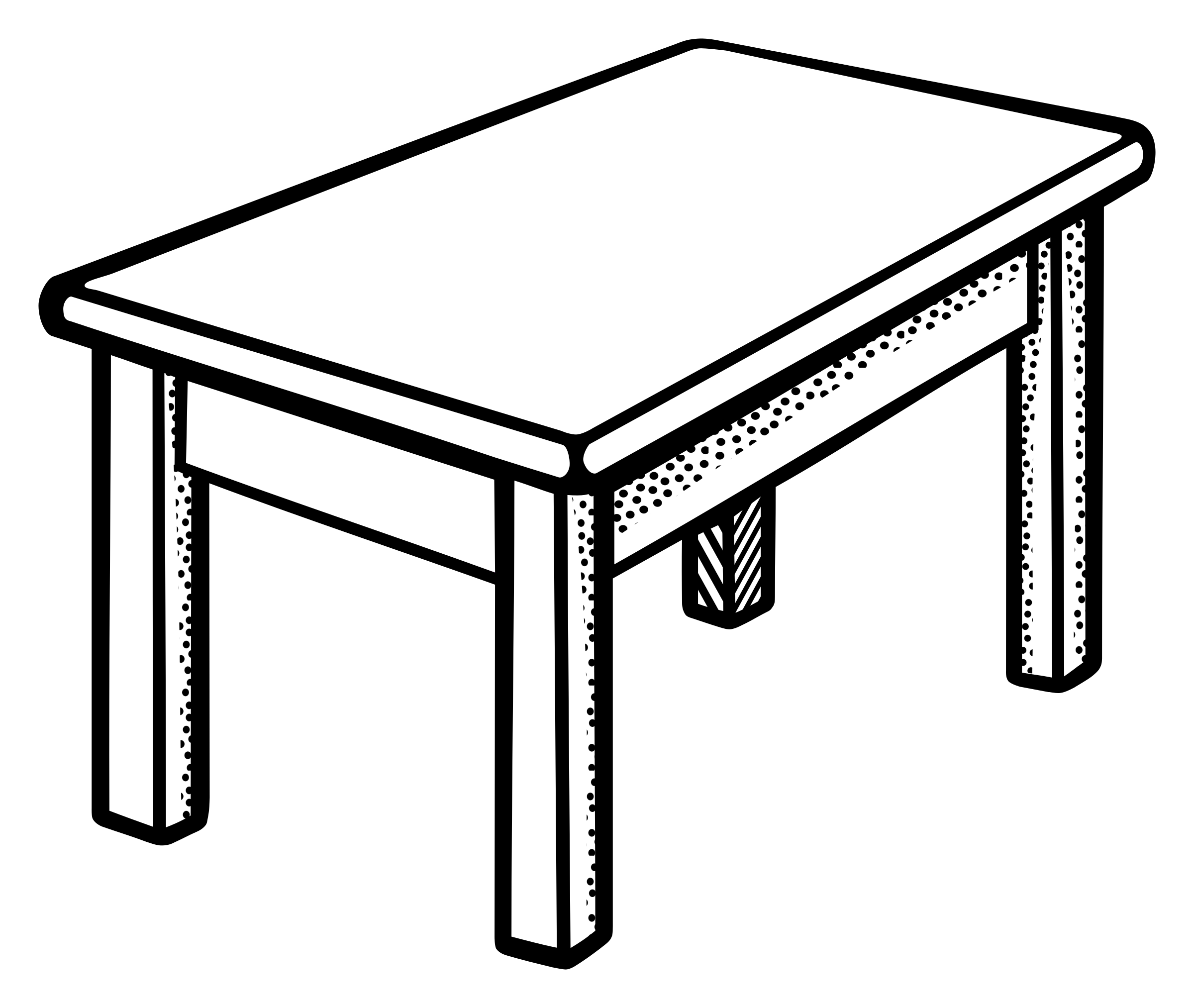 Clipart bed black and white. Pretty table illustration of
