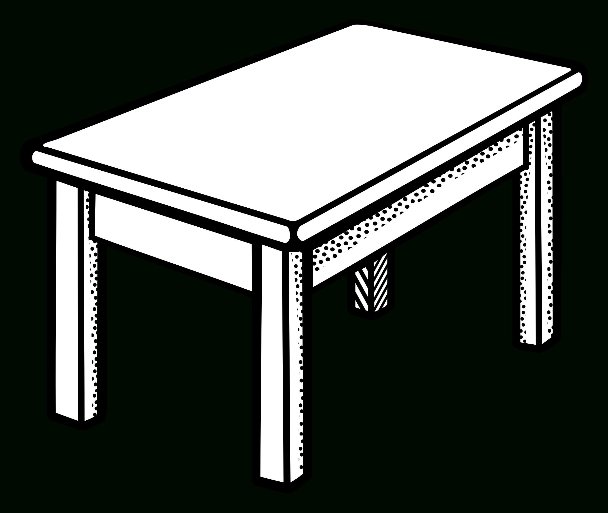 Desk clipart desk drawer. Pretty table illustration of