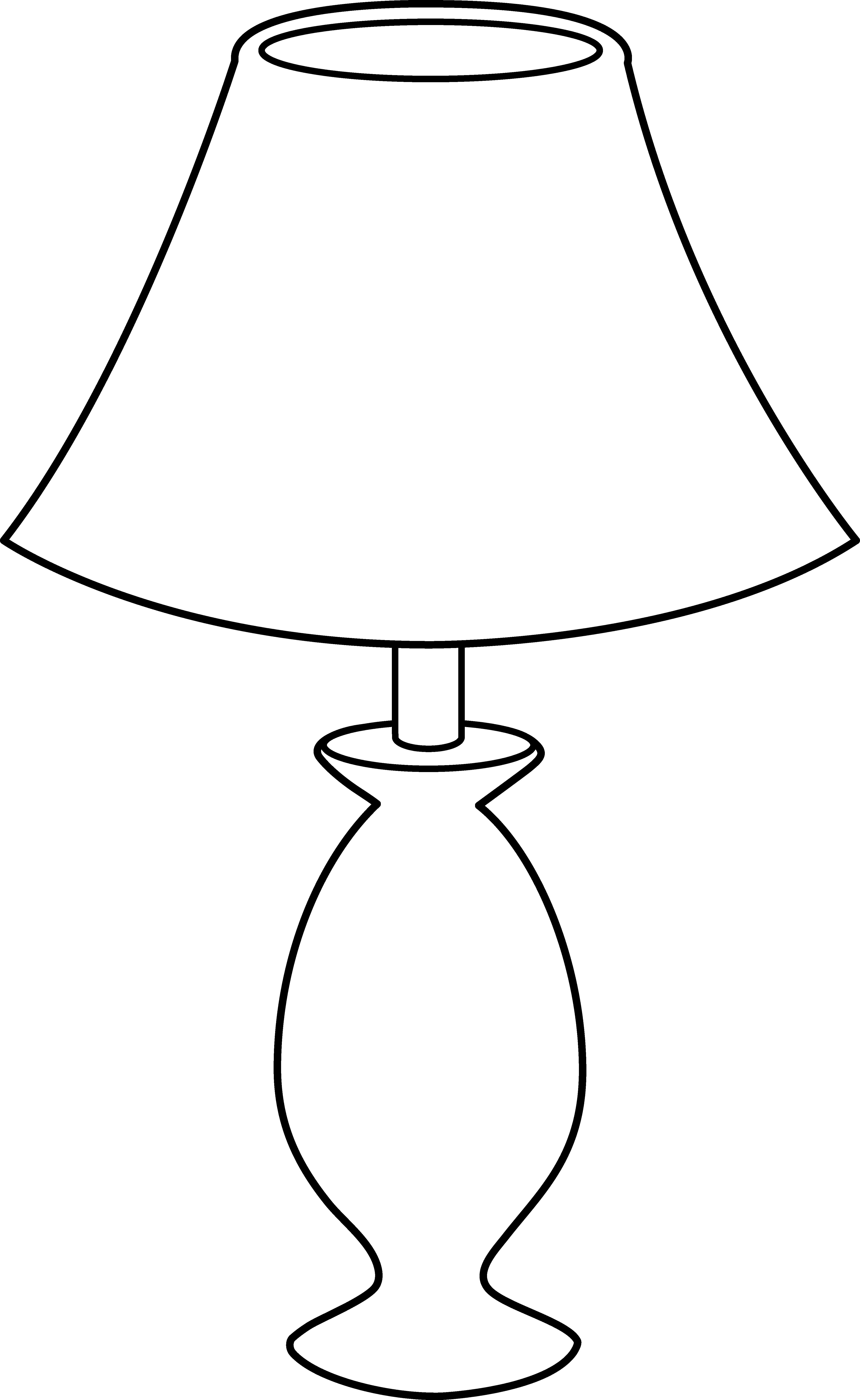 Table clip art black. Lamp clipart shadow