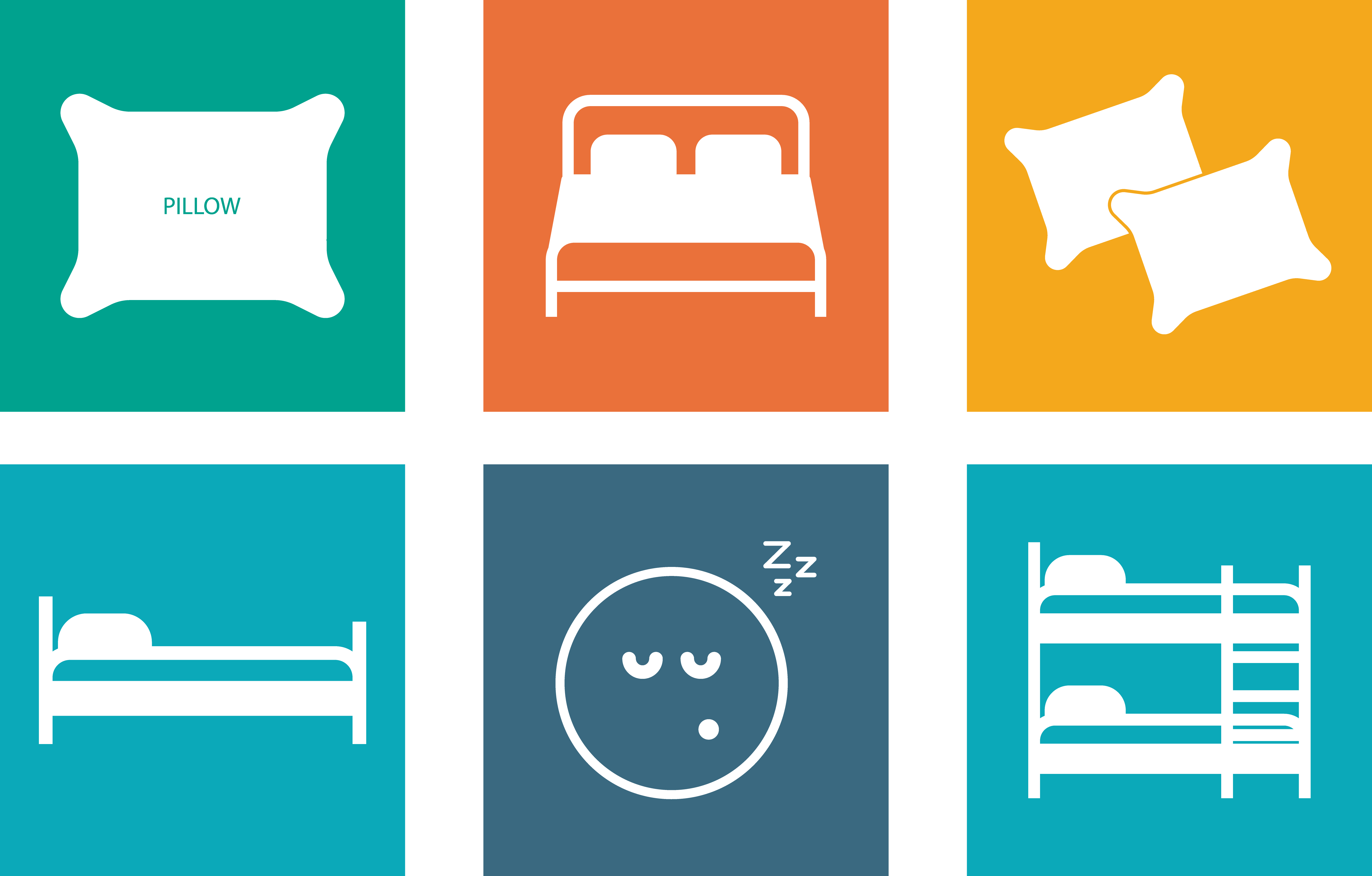 Bedding icon picture collection. Clipart bed blanket pillow