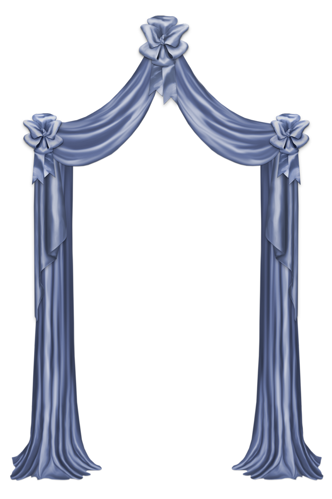 Clipart bed blue. Curtain decor png picture