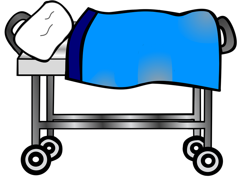 Collection of hospital buy. Clipart bed blue