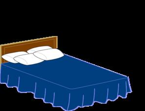 Clipart bed blue. Png svg clip art