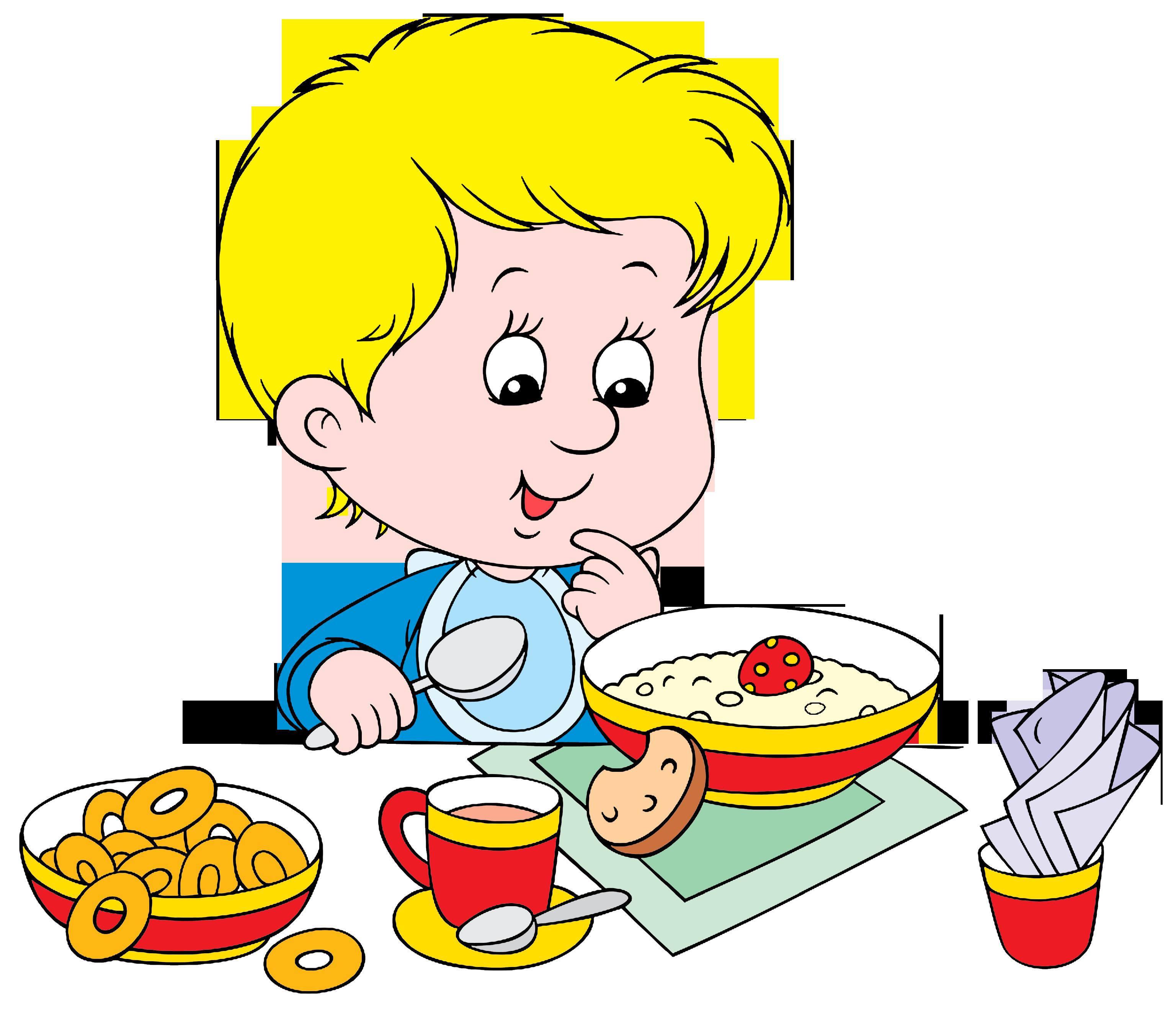 Eating breakfast google klipart. Health clipart boy