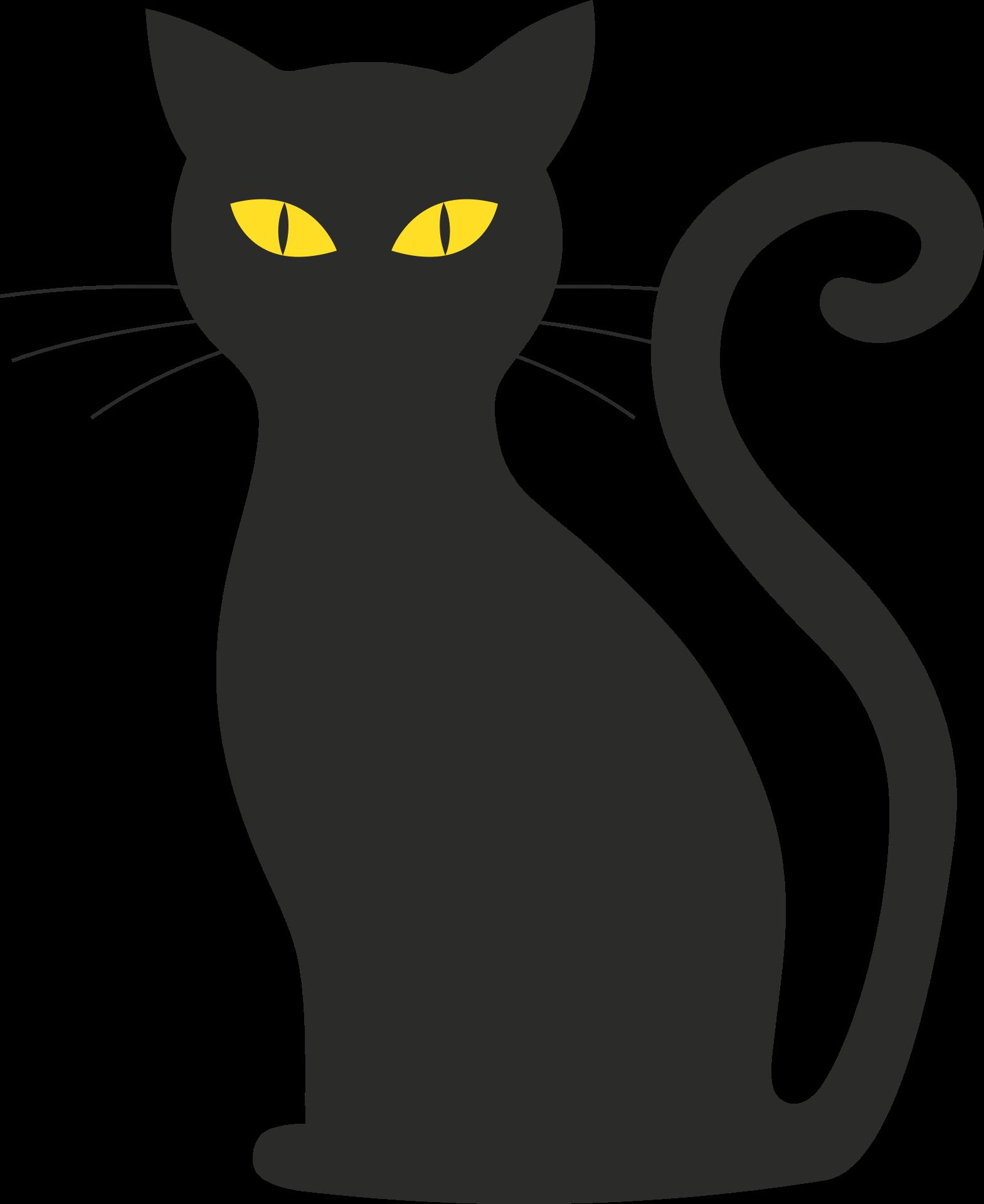 Szablon kota png czarny. Finger clipart mid