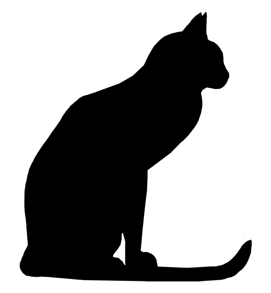 Rat clipart silhouette. Cat images cliparts co