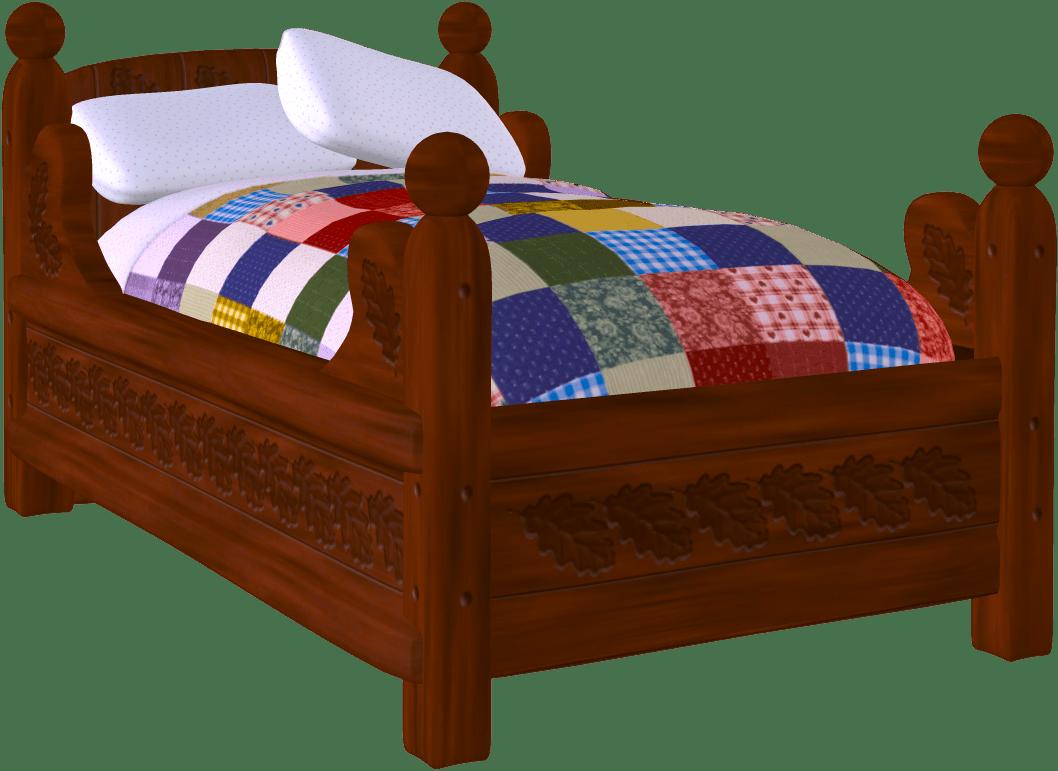 Clipart bed child bed. Get in flip flops