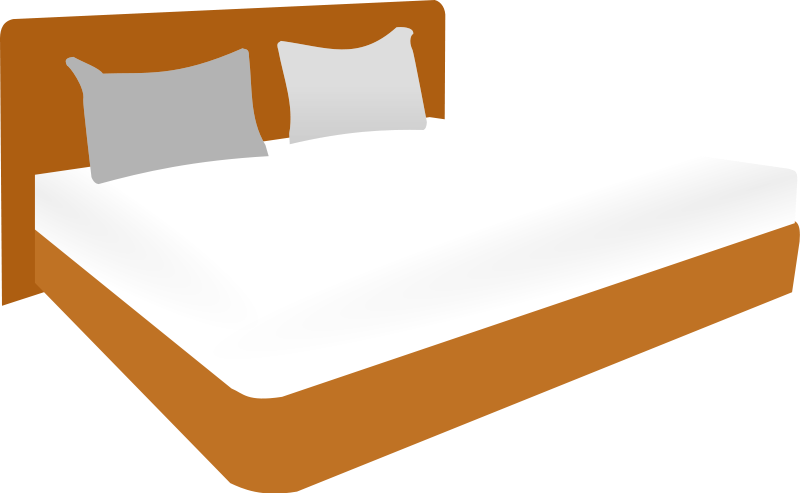 Bed clipart queen bed. Kids panda free images