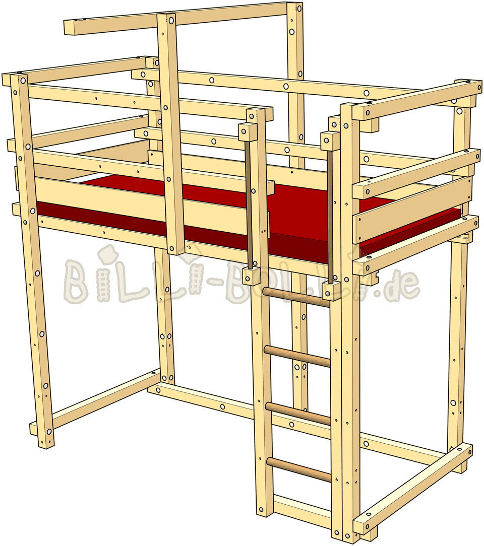 Clipart bed child bed. Loft adjustable by age