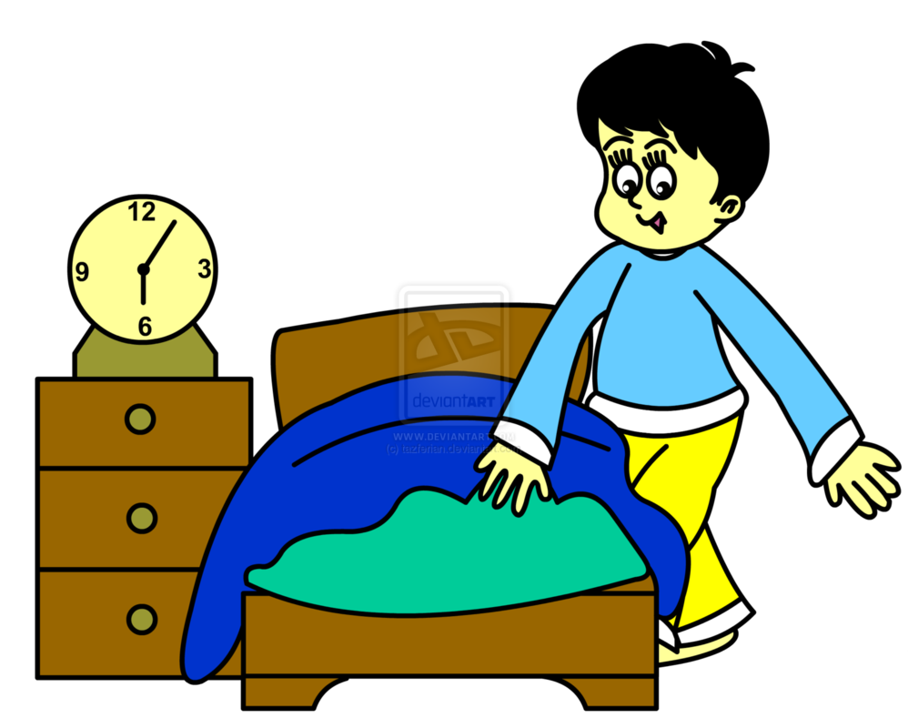 collection of kid. Clipart bed child bed