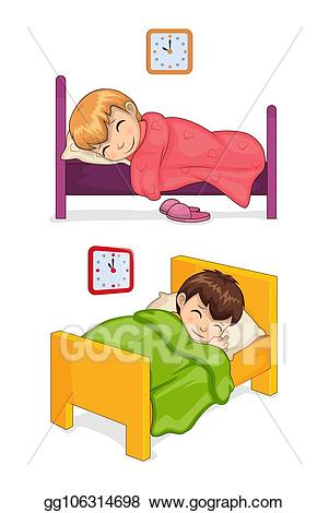 Dream clipart toddler bed. Vector art time for