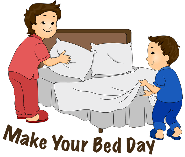 Make clipart bed clipart. Quote william h mcraven