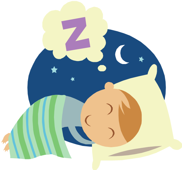clipart sleeping bedtime