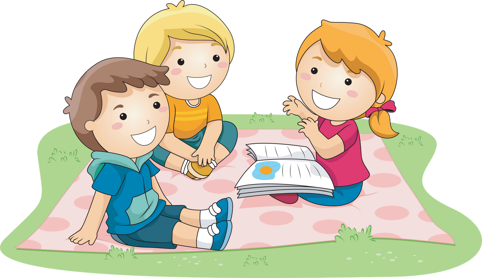 Family clipart read. Kid in bed png
