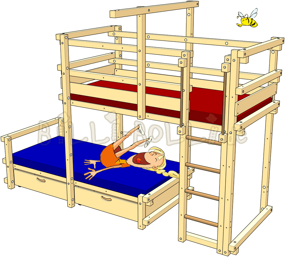 Clipart bed childrens bed. Bunk laterally staggered billi