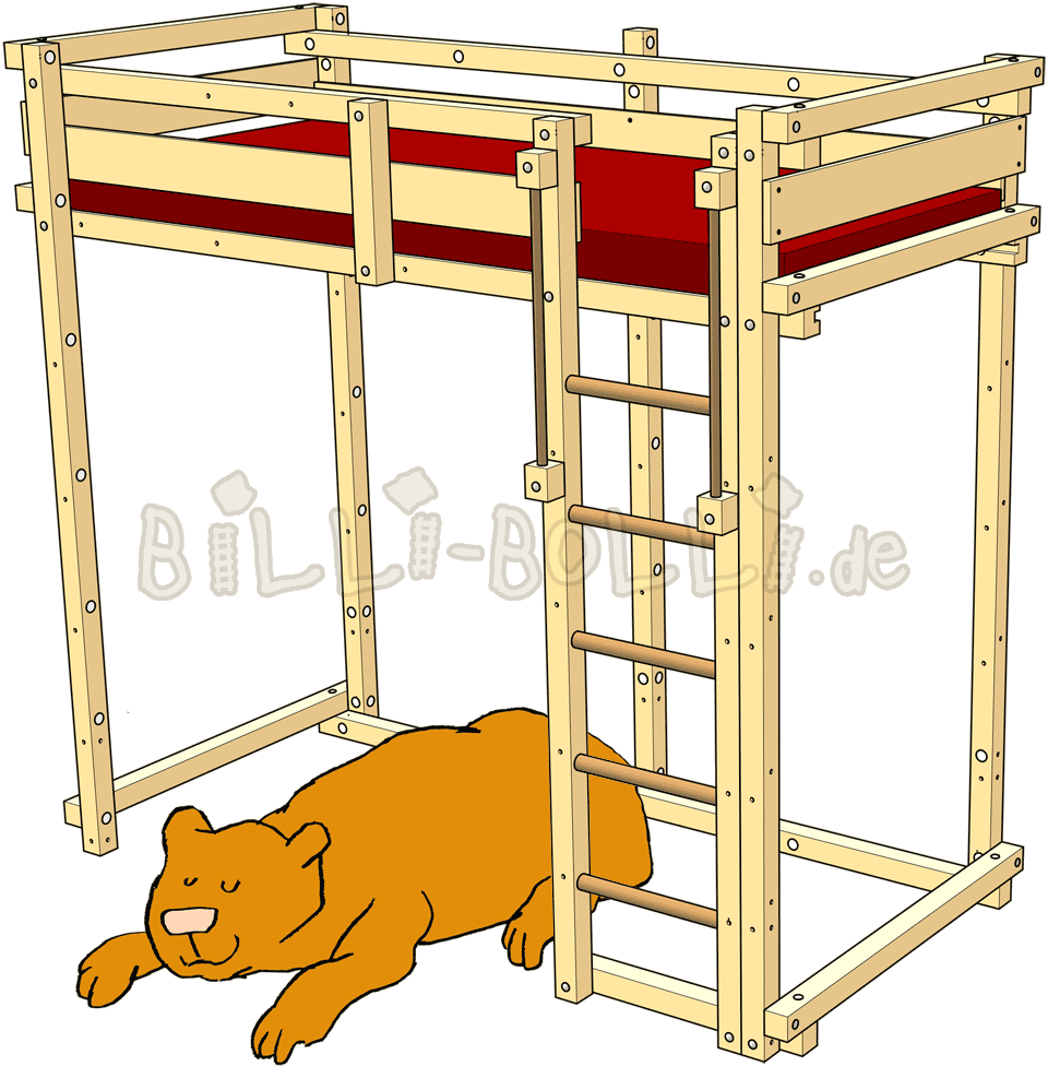 Youth loft billi bolli. Clipart bed childrens bed