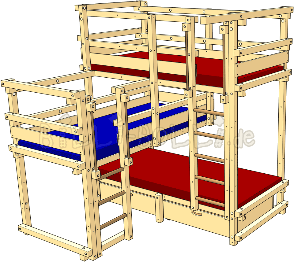 Clipart bed childrens bed. Beds for three billi