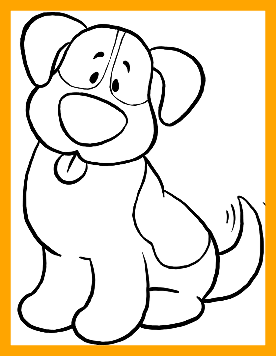 Clipart bed colouring page. Dog coloring pages loubet