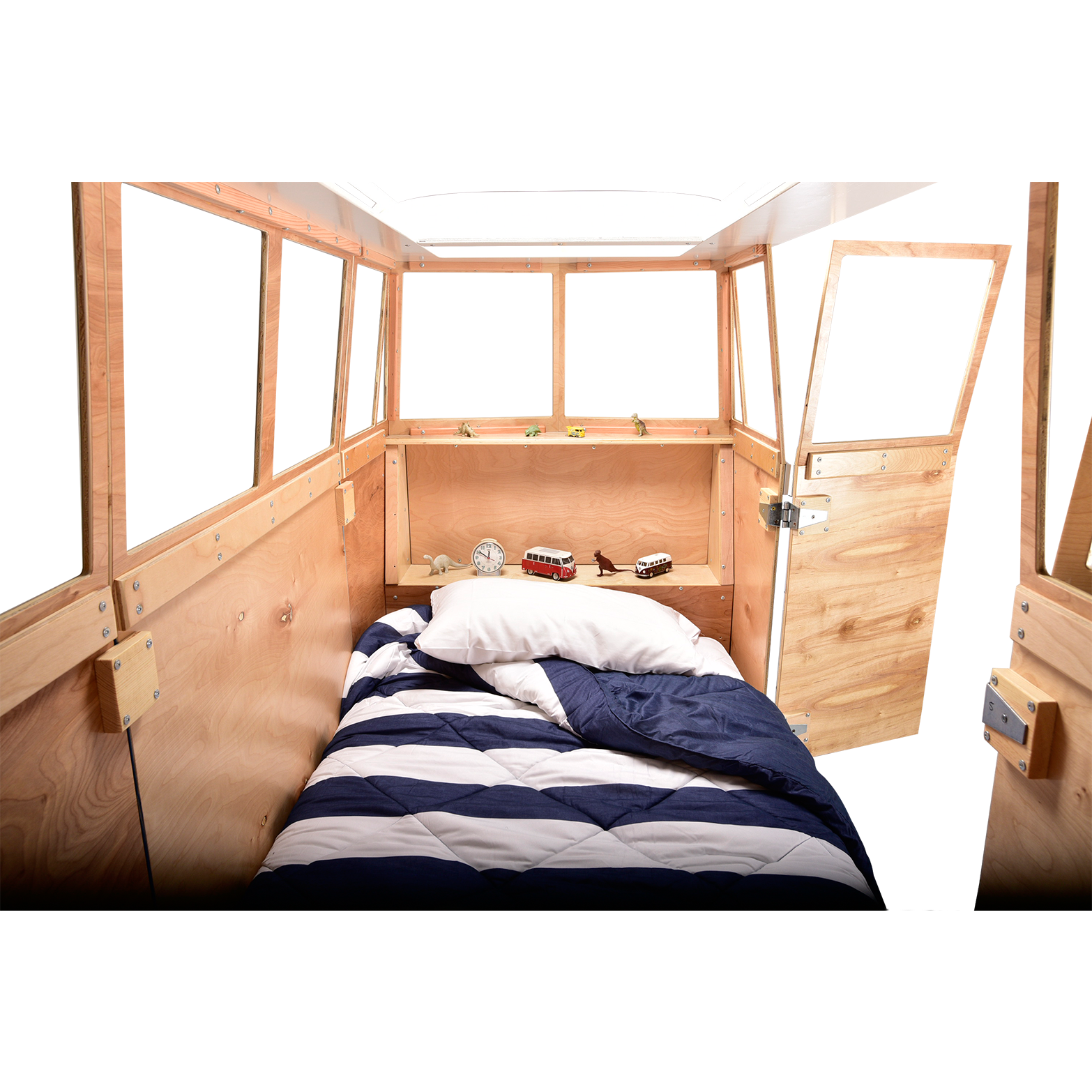 The leon bus by. Clipart sleeping cozy bed