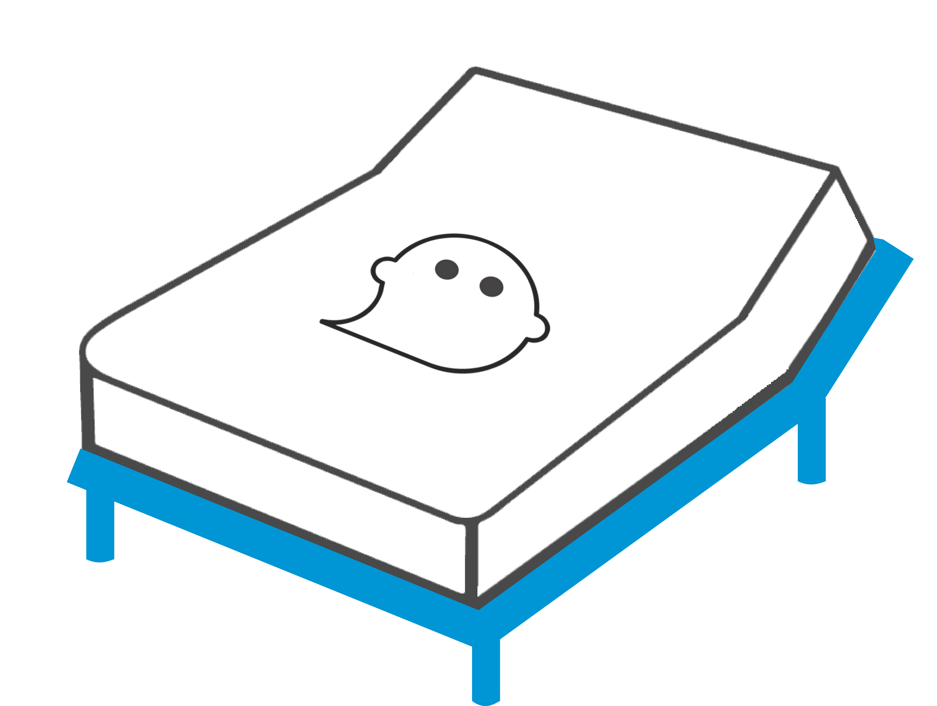 The ghostbed luxe coolest. Clipart bed empty bed