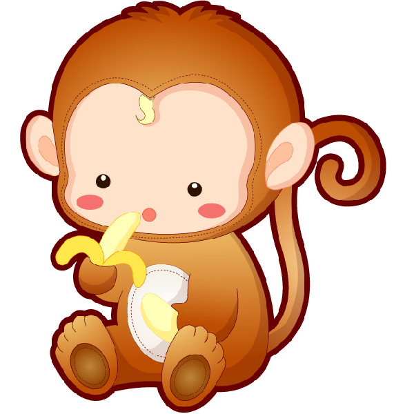 Cartoon image png pixeles. Monkey clipart elephant