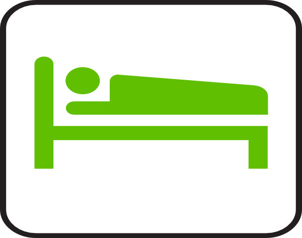 Hotel clip art at. Clipart bed green bed