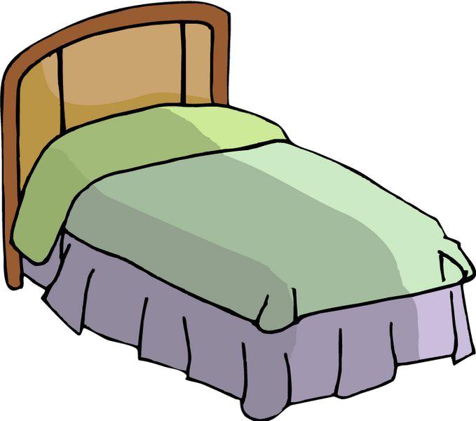 Cartoon mattress illustration transprent. Clipart bed green bed