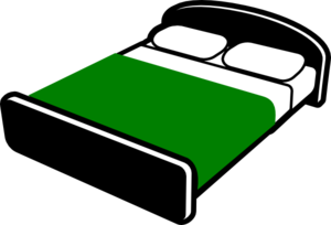 Clipart bed green bed. Clip art at clker