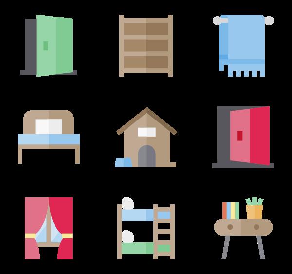 Furniture clipart adobe illustrator.  bed icon packs