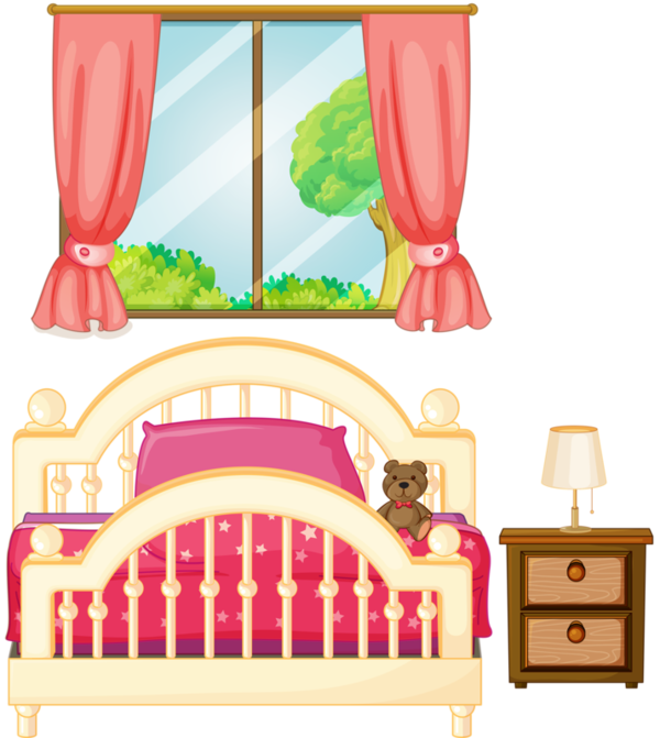 Lit png tube pinterest. Girly clipart bed