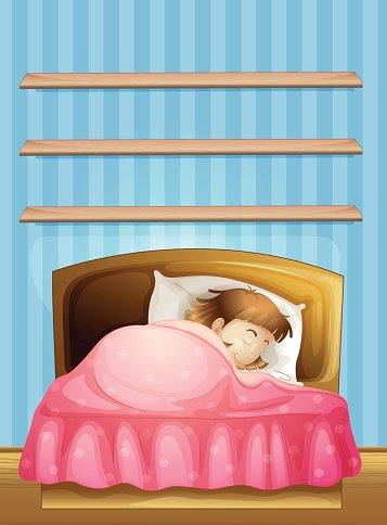 Clipart sleeping little girl bed. In premium clipartlogo com