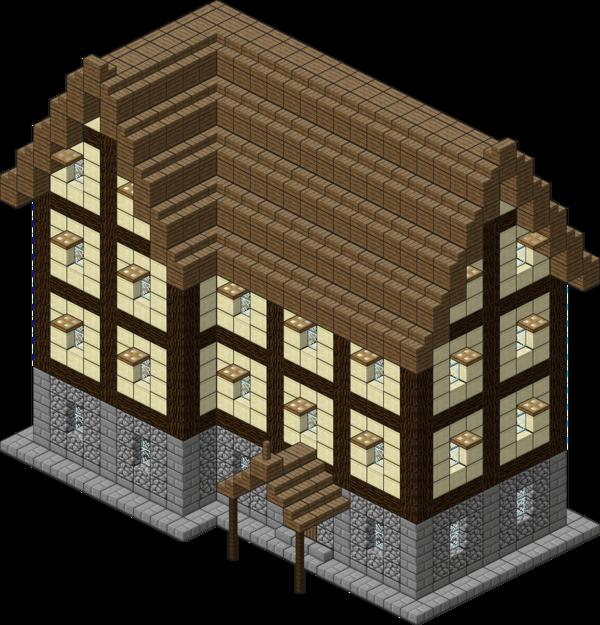 Floor clipart minecraft house. Medieval village large inn