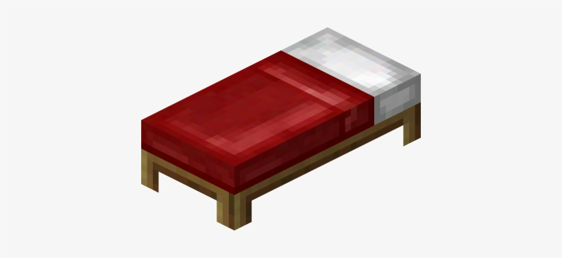 Clipart bed minecraft bed. Png free transparent
