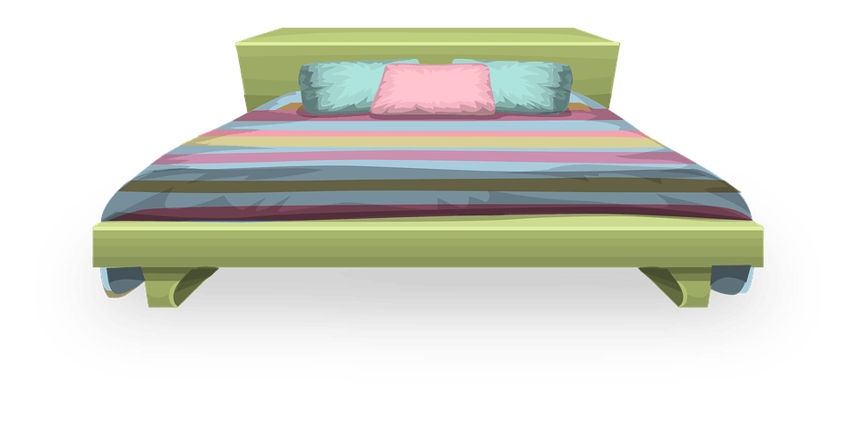 Clipart bed modern bed. Large green transparent png