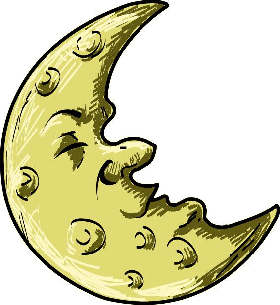 Half at getdrawings com. Clipart moon bed