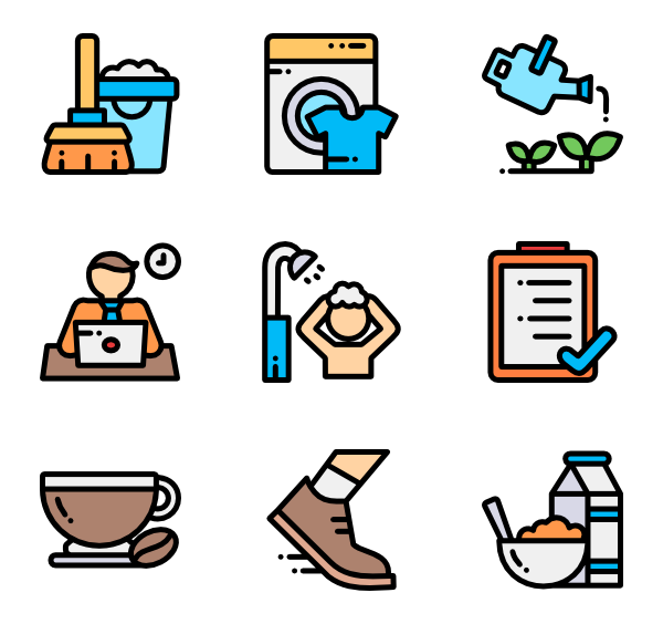 Stretch icons free vector. Schedule clipart routine