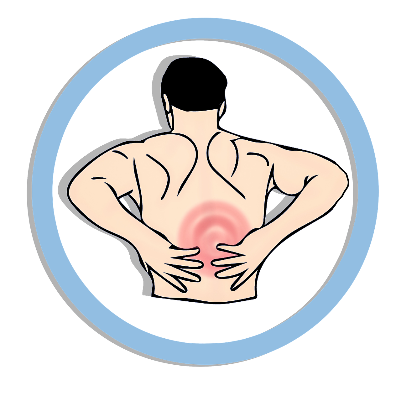 Back ache muscle tension. Injury clipart muscular pain