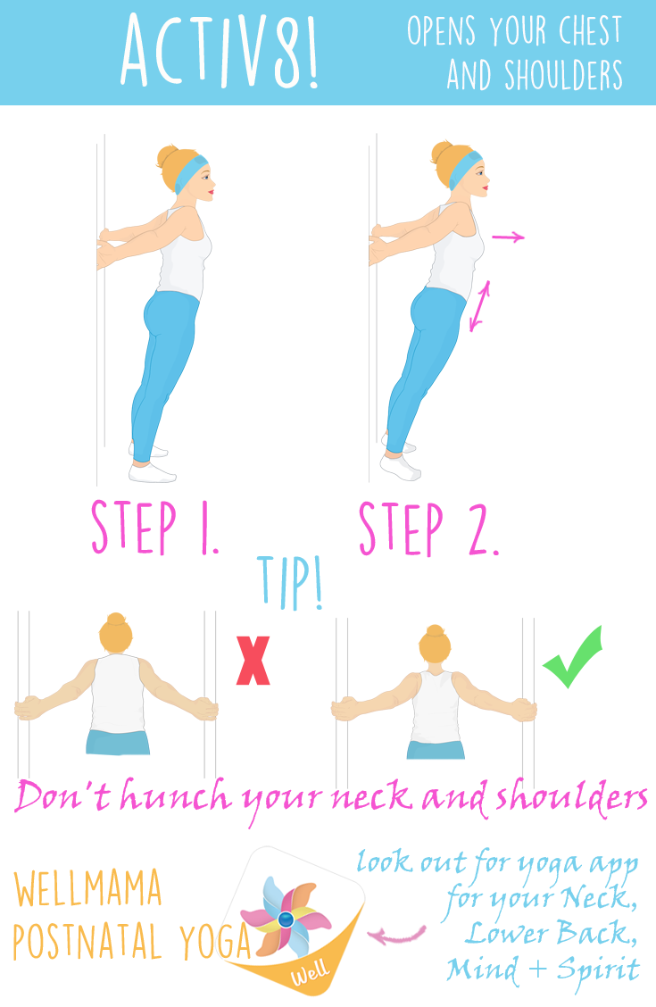 Neck clipart muscle ache. Behappymum morning stretches in