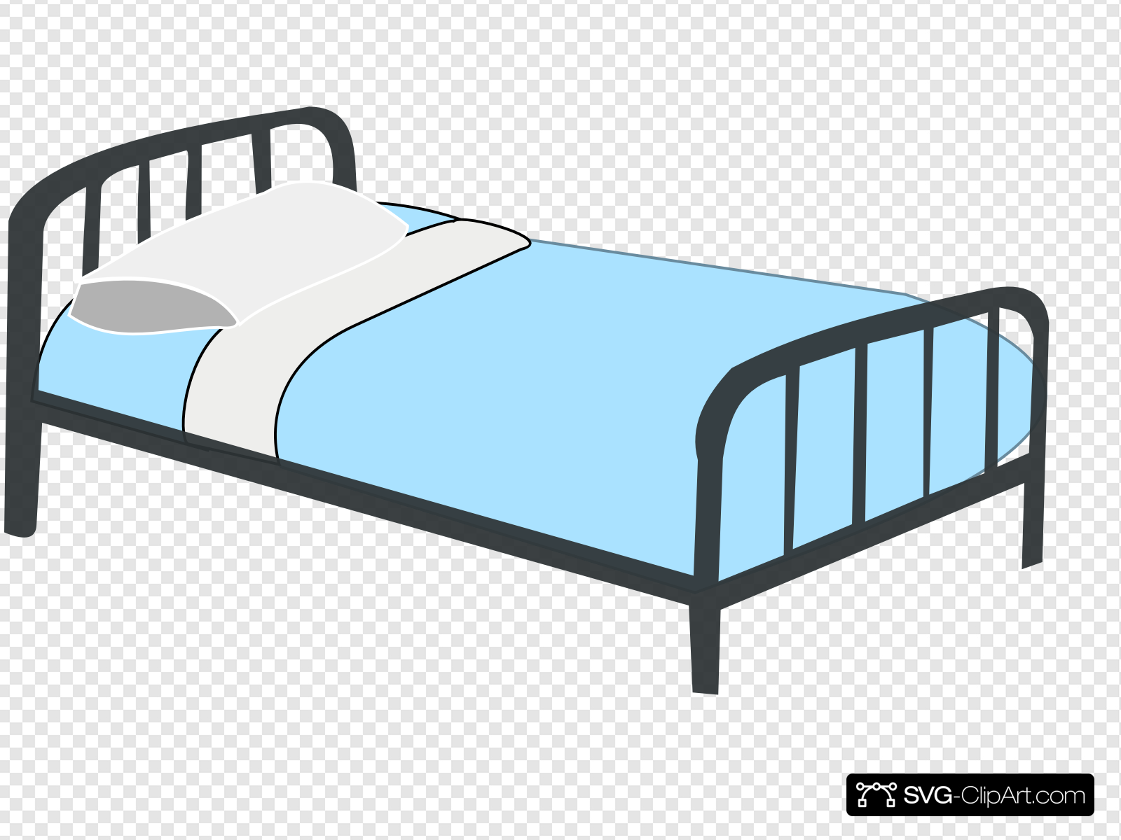 Hospital clip art icon. Clipart bed patient bed