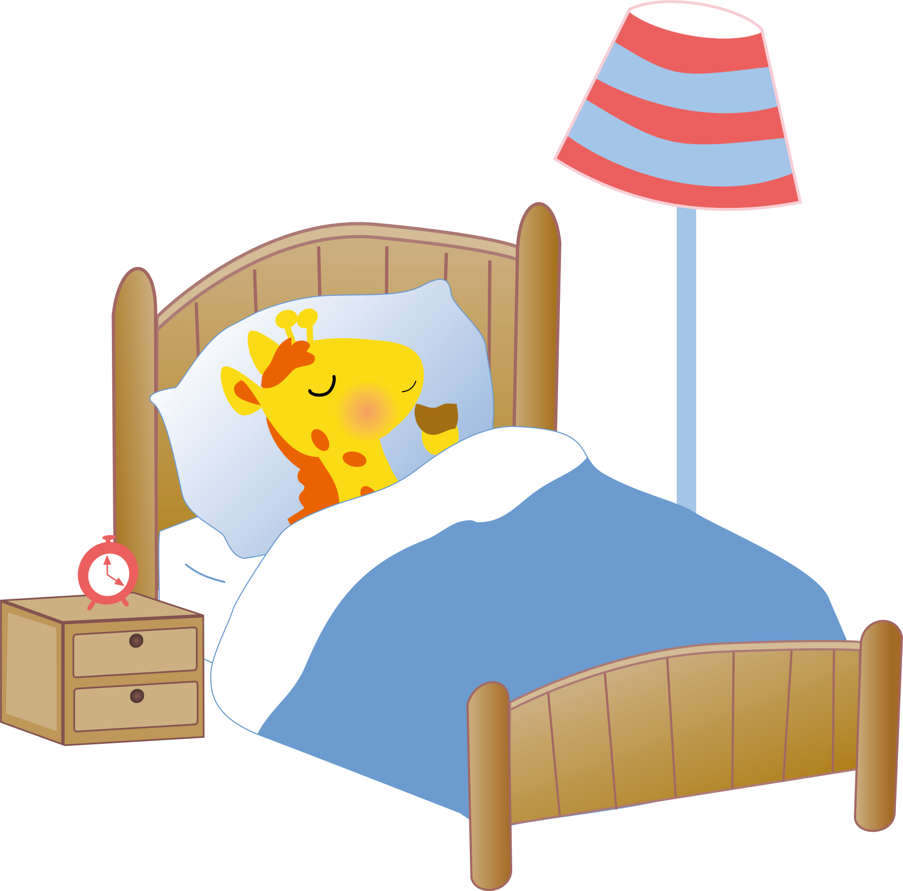 Furniture clipart bedroom thing. Bed giraffe cartoon clip