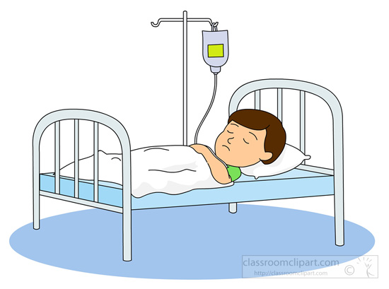 Clipart bed patient bed.  hospital clipartlook