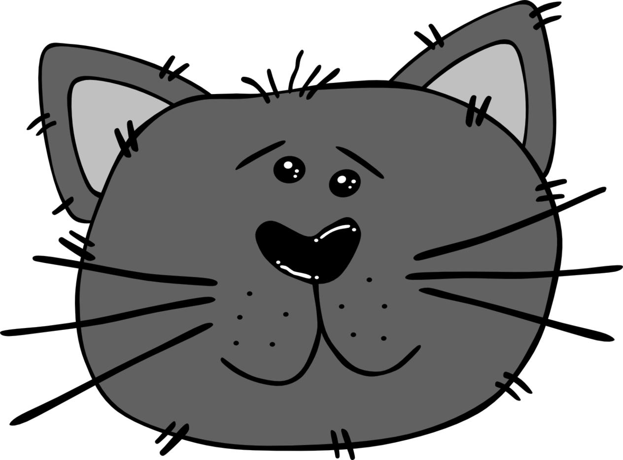 Windy clipart park. Cartoon cat faces free