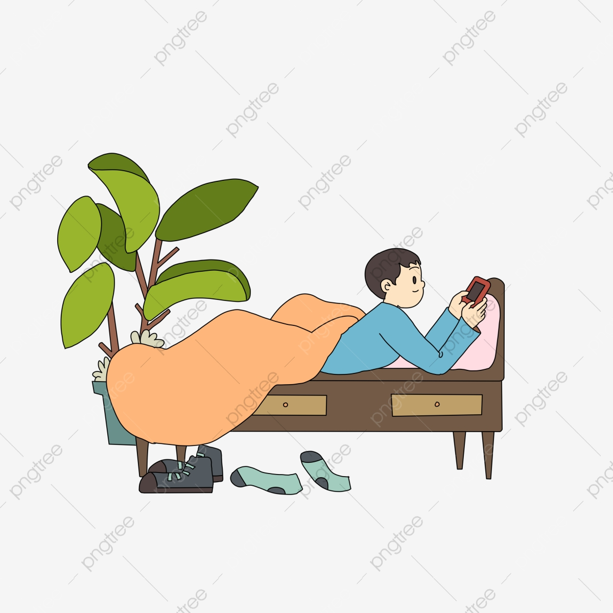 Cold dew theme boy. Clipart bed phone in
