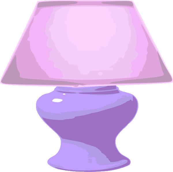 Clip art at clker. Lamp clipart pink lamp