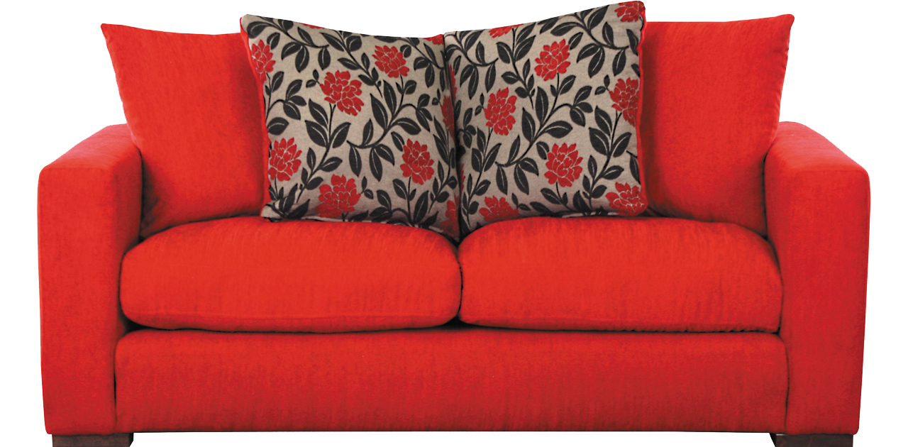 Sofa png images free. Furniture clipart red pillow