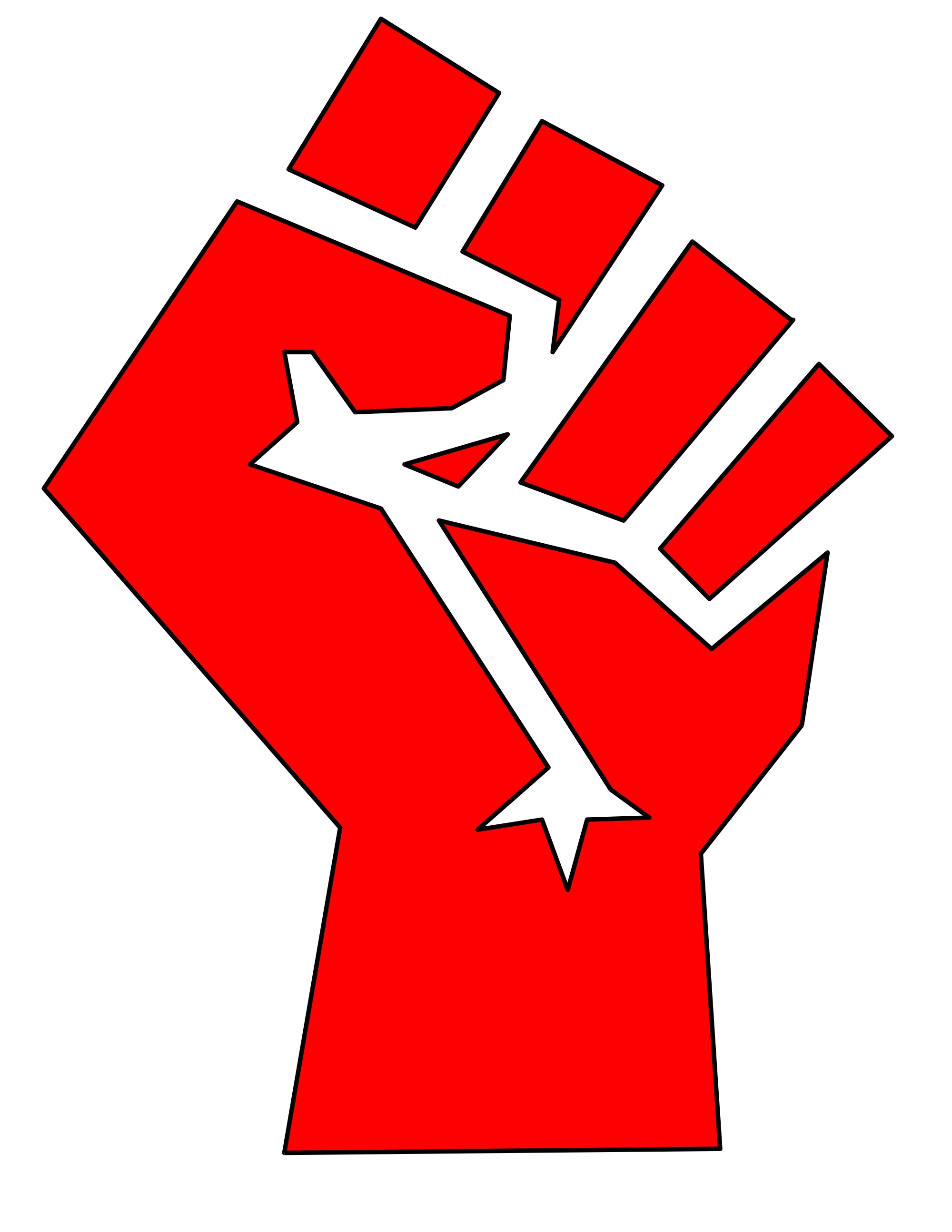 Economics clipart socialist economy. Fist red pencil and