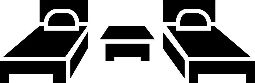 Clipart bed single room. Two beds and a